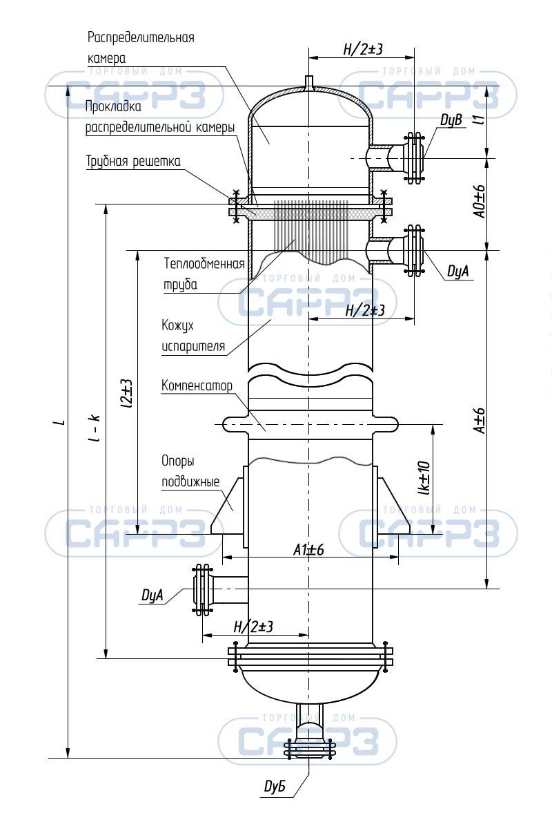 Кожухотрубный (кожухотрубчатый) испаритель типа ИНВ Челябинск Кожухотрубный теплообменник Alfa Laval VLR7x16/76-6,0 Таганрог