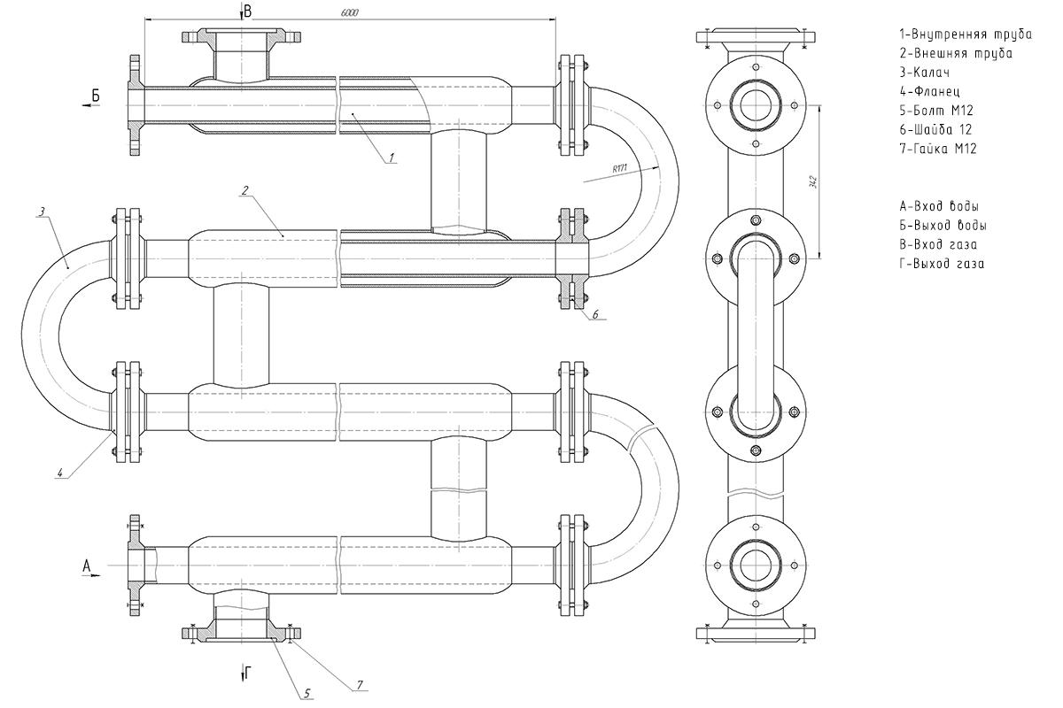 Теплообменник труба в трубе обозначение теплообменник масляного фильтра купить в
